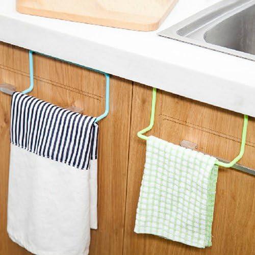 Door Tea Towel Rack Bar Hanging Holder Rail Organizer Bathroom Kitchen Hanger