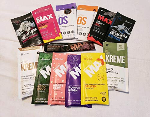 KETO//OS MAX Maui Punch CHARGED, Provides Sharp Energy Boost, Promotes Weight Loss and Burn Fats through Ketosis 9 sachets