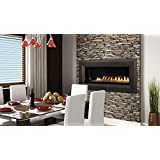"43"" Millivolt Linear Vent-Free NG Fireplace- Lights & Glass Pebbles"