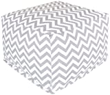 Majestic Home Goods Chevron Ottoman, Large, Gray