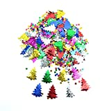 Christmas Tree Embossed Metallic Confetti Table Decoration Mix, 14g--Table Decorations CHRISTMAS