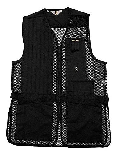 Mesh Shooting Vest - Bob-Allen Shooting Vest, Right Handed, Black, Large