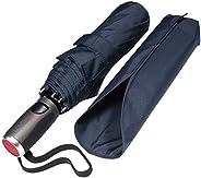 LifeTek Automatic Travel Umbrella Teflon 210T Canopy 9 Rib Wind Resistant Frame
