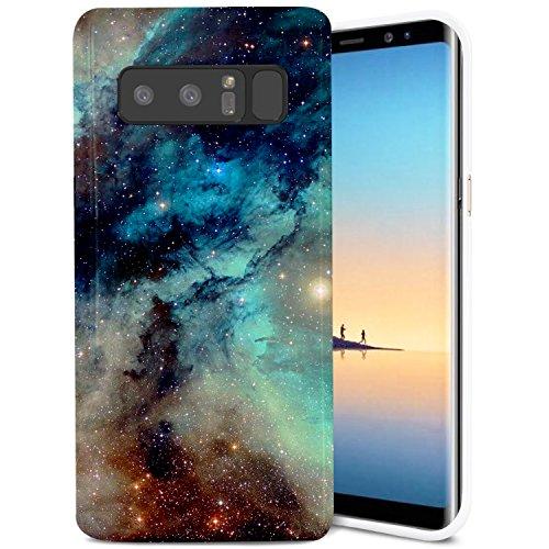 Samsung Galaxy Note 8 Case, ZUSLAB Slim Shockproof Flexible TPU, Soft Rubber Silicone Skin Cover for Samsung Galaxy Note 8 (Dark Green Nebula)