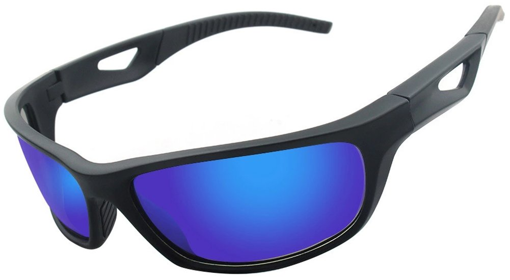 Polarized Sunglasses Anti Glare Driving Wrap Around Driving Square Frame Motorcycle Block Comfortable Durable Construction Outdoor Sports Eyewear UV blue by ZHIYIJIA (Image #1)