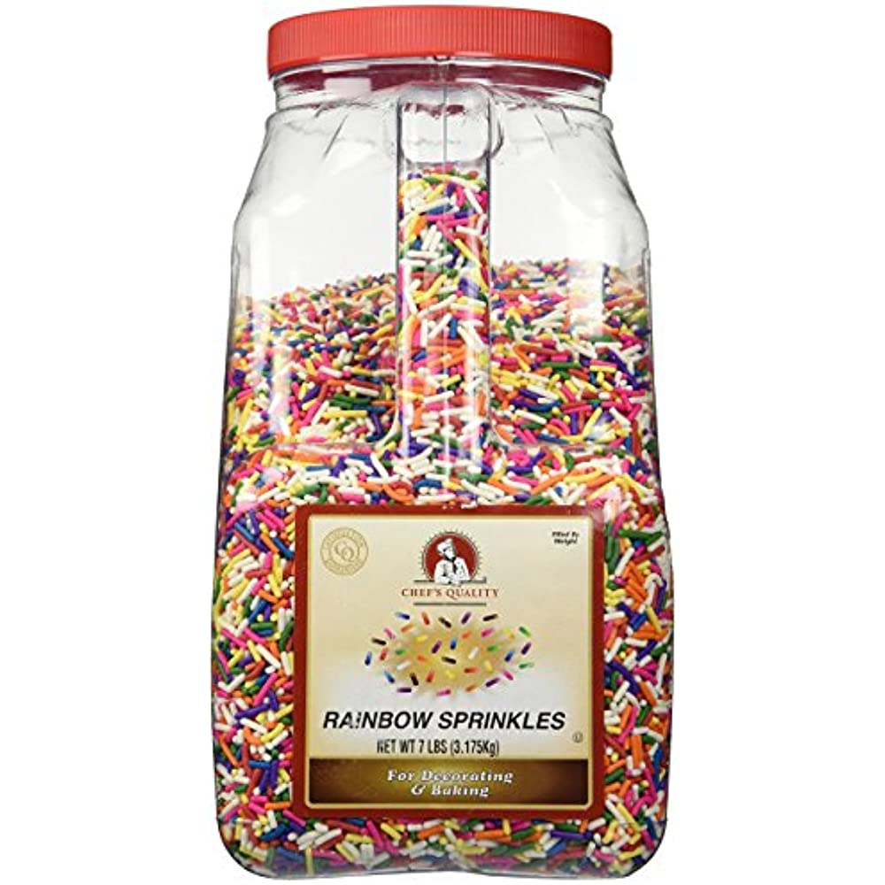 Chef's Quality Rainbow Sprinkles, 7 Lb Grocery
