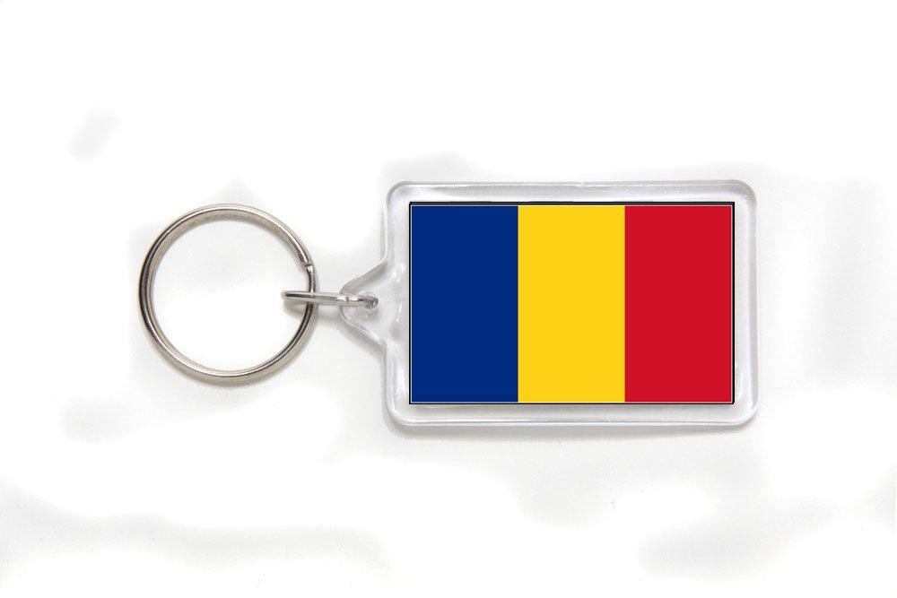 Romania Romanian Flag Double Sided Acrylic Key Ring Small