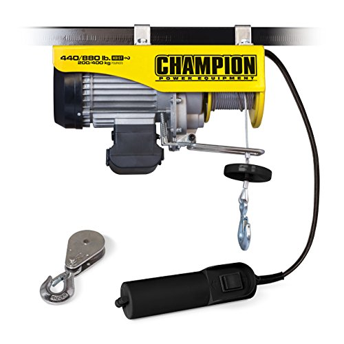 Champion 440 880 Lb Automatic Electric Hoist With Remote