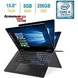2017 Lenovo Yoga 15.6 inch Touchscreen IPS FHD (1920 x 1080) Laptop PC, Intel Core i5-7200U 2.5GHz, 8GB RAM, 256GB SSD, Backlit Keyboard, HDMI, Bluetooth, Built-in Fingerprint Reader, Windows 10