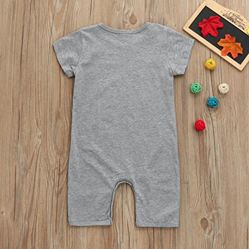 Fineser Summer Toddler Infant Baby Boys Cartoon Bear Print Short Sleeve Romper Jumpsuit Bodysuit Outfits Clothes