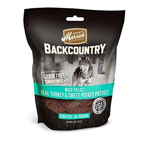 Merrick Backcountry Wild Fields Real Turkey & Sweet Potato Patties Grain Free Dog Treats, 4 Oz.