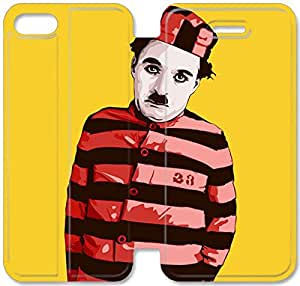 Personality Design Chaplin-10 iPhone 4 4S Leather Flip Case