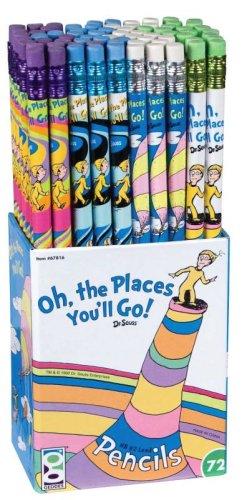72 Piece Set (Dr Seuss Oh the Places You'll Go! Pencil Set, 72 Pieces (67816))