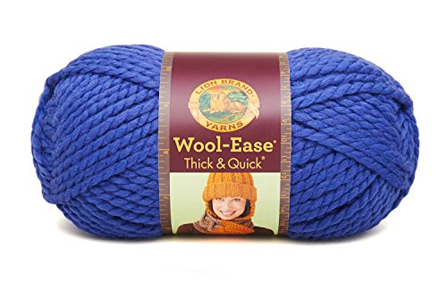 (Lion  640-107M Wool-Ease Thick & Quick Yarn , 97 Meters, Cobalt)