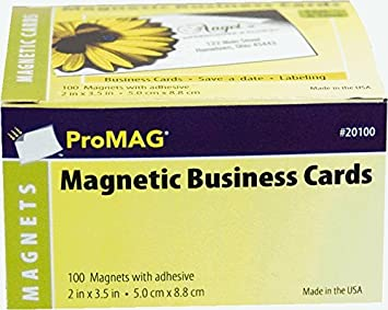 Amazon Promag 2 X 3 12 Inches Adhesive Business Card Magnets