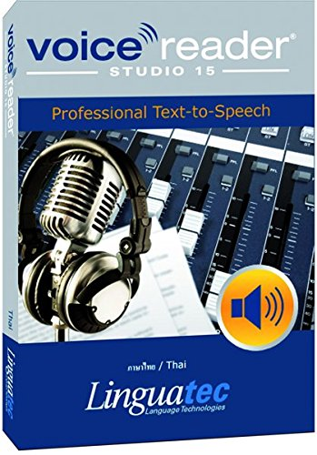 - Voice Reader Studio 15 ภาษาไทย / Thai - Professional Text-to-Speech Software (TTS) for Windows PC / Convert any text into audio / Natural sounding voices / Create high-quality audio files / Large variety of applications: E-learning; Enrichment of training documents or advertising material; Traffic announcements, Telephone information systems; Voice synthesis of documents; Creation of audio books; Support for individuals with sight disability or dyslexia / This version contains one female voice.