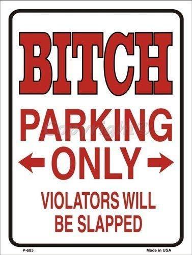Ditooms Cartel de Metal para aparcar con Texto en inglés ...