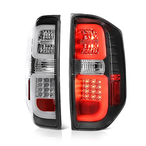 VIPMOTOZ Premium LED Tail Light Lamp Assembly For 2014-2019 Toyota Tundra Pickup Truck - Black Housing, Driver and Passenger Side