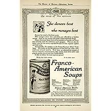 1917 Ad Franco-American Mock Turtle Canned Soup Food Grocery Kitchen WW1 YRR1 - Original Print Ad