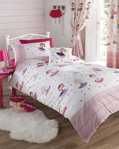 Ballerina Pink Duvet Cover Bed Set Girl's Children's Bedding - UK Single / US Twin