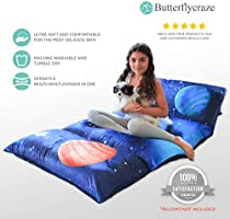 Use as Nap Mat Napping Portable Toddler Bed Alternative for Sleepovers Travel Butterfly Craze Kids Floor Pillow Bed Cover or as a Lounger for Reading Cover Only! Playing