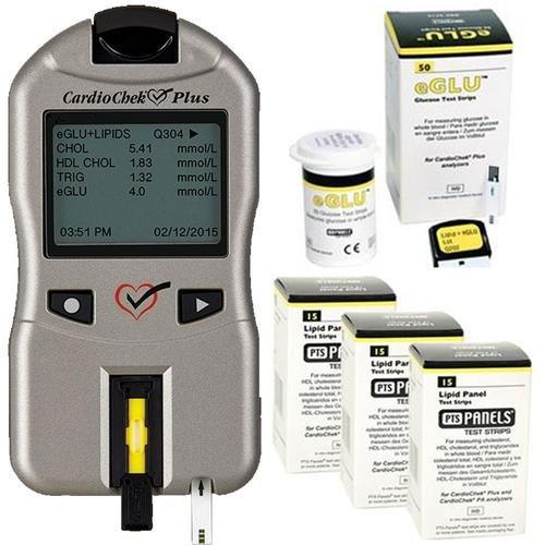 CardioCheck Plus Starter Kit Professional Blood Testing Analyzer Device with 45 Lipid+eGlu Test Strips