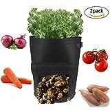 Casolly 10 Gallon Garden Potato Grow Bags With Handles – 2 Pack