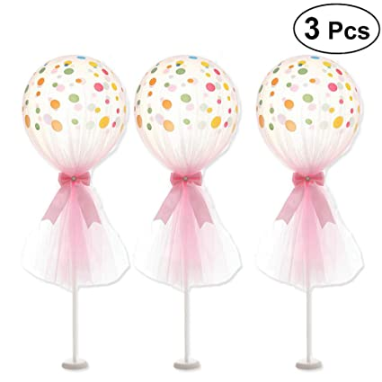 Amazon.com: LUOEM globos de tul con base Kit de globos ...