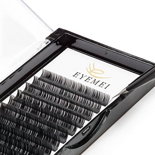 Eyelash Extensions 0.20 D Curl Natural Thick Individual Lashes Faux Mink Eyelash Extensions 9-15mm 8 Sizes in One Mixed Tray by EYEMEI …