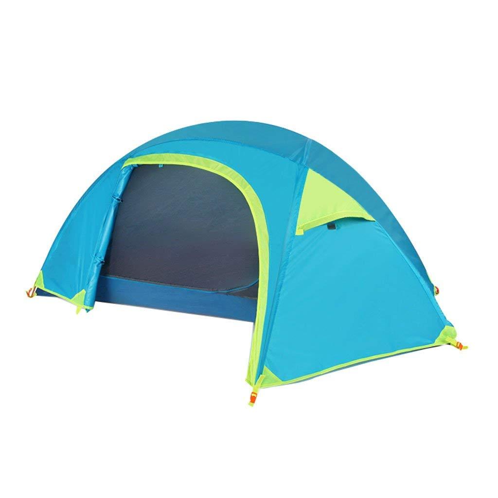XHCP Tente, Tente de Camping de pêche en Plein air imperméable Coupe-Vent Double Couche personnelle Ultra-léger (Couleur  Bleu)  -