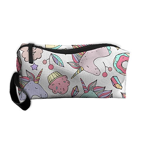 Donuts Unicorn Portable Storage Pouch Travel Makeup Bag Oxford Cloth Kit Organizer For Sewing Medicine Comestic Fashion Pencil Pen Case from 4ME4U