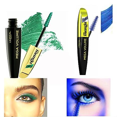 6b84b0182a5 Kit L'Oréal Paris 1 Mega Volume Miss Manga Punky Mascara Vert Green + 1