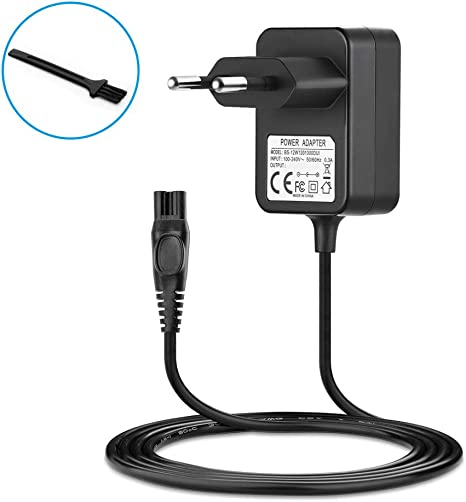 BERLS Cargador 15 V 500 MA alimentación para afeitadora eléctrica Philips HQ-Serie HQ8505, HQ8, HQ9, HQ56, HQ8445, HQ8825, HQ8830, HQ8835 – Negro: Amazon.es: Informática