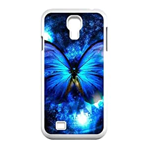 Diy Beautiful Colorful Butterfly Custom Cover Phone Case for samsung galaxy s4 White Shell Phone [Pattern-2]