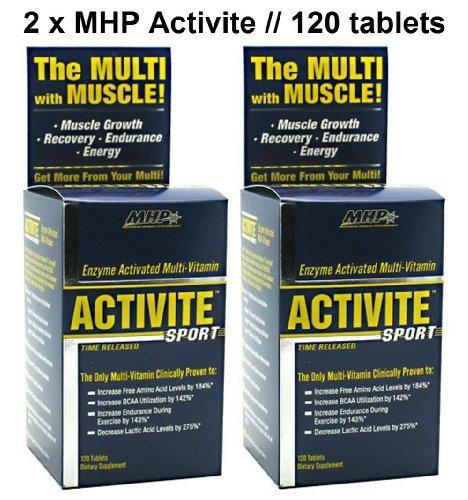 Activite Sport 2-Pack by MHP // Full-Spectrum Multi-Vitamins (2 bottles (240 - Sport 120 Activite Tablets