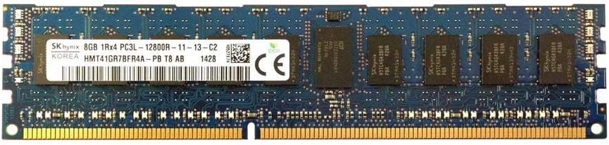 SK HYNIX 8GB 1Rx4 PC3L-12800R DDR3-1600 ECC REG Server Memory HMT41GR7BFR4A-PB