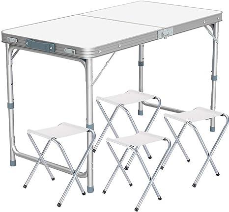 LEYU 120x 60cm 4FT Aluminio Caballete Portátil Camping Picnic ...