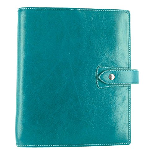 isher A5 Size Leather Organizer Agenda Planner Ring Binder 2019 Calendar with DiLoro Jot Pad Refills (A5, 2019 Kingfisher) ()