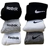 COSTRO Men's Cotton Socks - Combo of 6 Pairs (Black, White and Grey)
