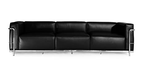 Kardiel Roche Sofa 3 Seat, Black Aniline Leather