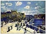 ArtPlaza TW92777 Renoir Pierre-Auguste - Pont-Neuf Decorative Panel 35.5x27.5 Inch Multicolored