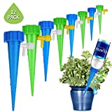 vegetable garden watering system - [New Upgrade] Self Watering Spike Slow Release Vacation Plants Watering System Automatic Watering Devices for Wine Bottle Small Plastic Water Bottle Irrigation Stake for Outdoor Indoor Plants Tree