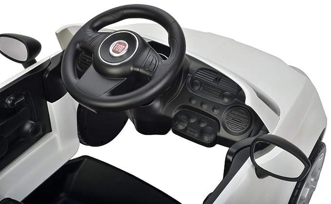 Eco Toys Fiat 500 Color Blanco antideslizante Auto con manillar ...