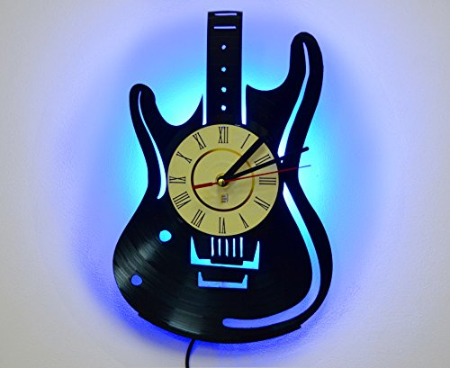 NICE STUFF ONLY Cool Guitar Bedside Lamp, Night Light Function, Original Decor, Idea for Boys and Men