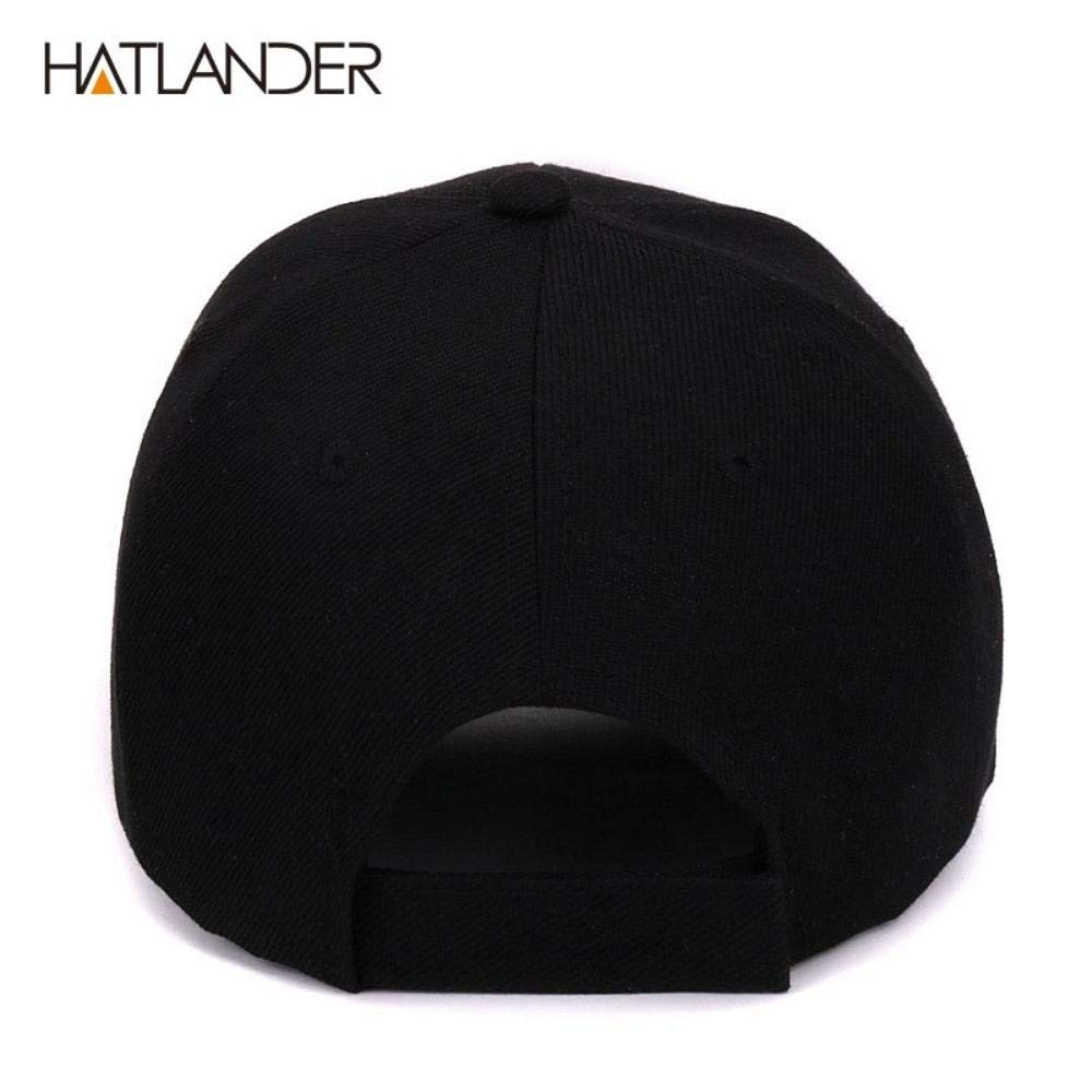 Amazon.com: Hatlander New York Black Baseball caps Las Vegas Adjustable Sports Cap Gorras (Black Las Vegas): Clothing