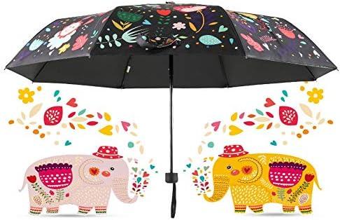 Umbrella Women Women Umbrella Stroller Windproof Girl Jacket Cartoon Adult Child Umbr Cartoon Elephant Umbrella Rain Women Windproof Ultralight Sun Non Automatic Three Folding Umbrellas