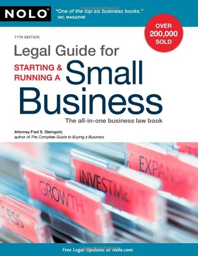 Read Online Legal Guide for Starting & Running a Small Business ebook