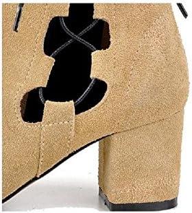 YYH Moda stivali cava glassato stivali in pelle stivali da donna traspirante . yellow . 37