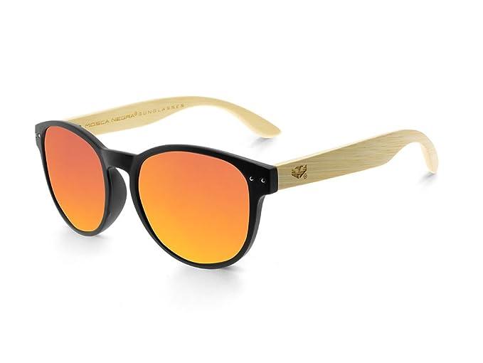 Gafas de madera MOSCA NEGRA modelo MIX OMEGA Solid Black Polarized - Wood Sunglasses