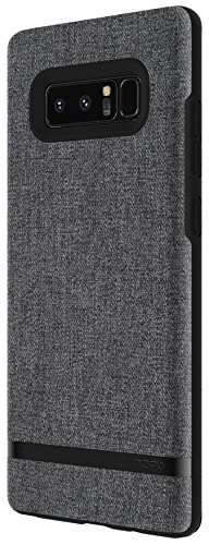 Incipio Carnaby Samsung Galaxy Note 8 Case [Esquire Series] with Co-Molded Design and Ultra-Soft Cotton Finish for Samsung Galaxy Note 8 - Gray